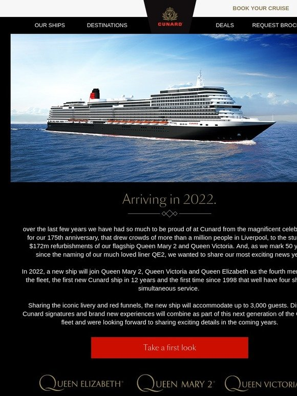 Last Minute Cruises >> Cunard Cruises: A new chapter in Cunard's history. | Milled