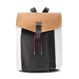 Front view of a backpack.