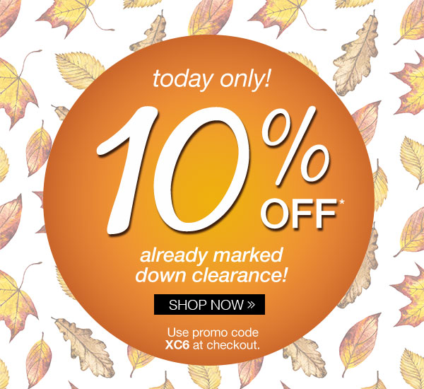 10% off already marked down clearance!