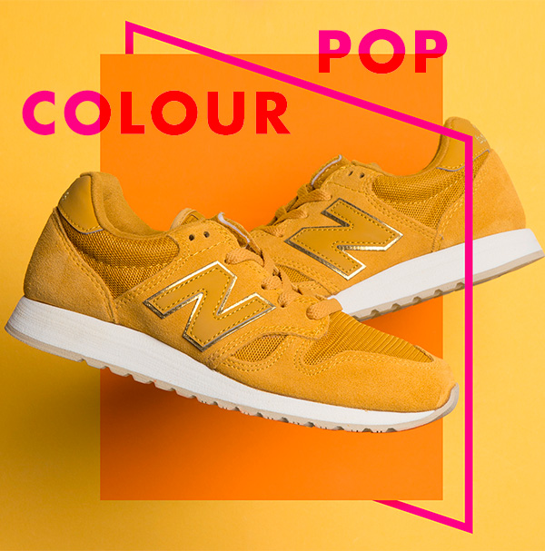 new balance yellow 520 suede trainers