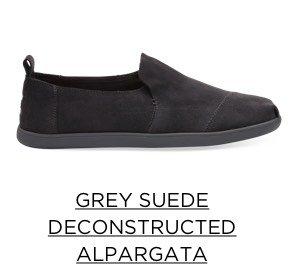 Grey Suede Deconstructed Alpargata