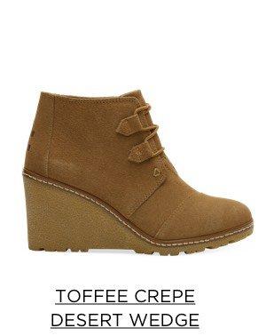 Toffee Crepe Desert Wedge