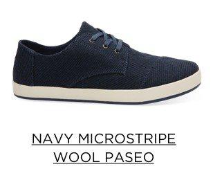 Navy Microstripe Wool Paseo