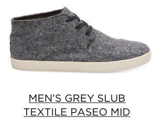 Men's Grey Slub Textile Paseo Mid