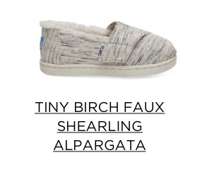 Tiny Birch Faux Shearling Alpargata