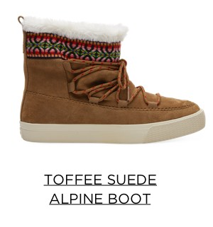 Toffee Suede Alpine Boots