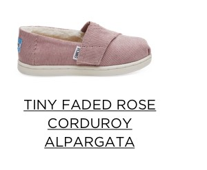 Tiny Faded Rose Corduroy Alpargata