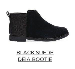 Black Suede Deia Bootie