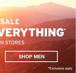 30% OFF EVERYTHING | SHOP MEN
