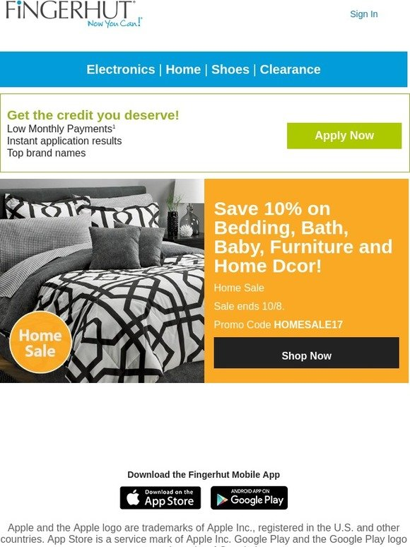 fingerhut fingerhut 10 off select home items savings for every room milled