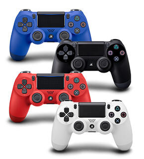Sony Playstation 4 Dualshock Controllers Blue/Black/Red/White