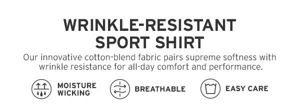 WRINKLE-RESISTANT SPORT SHIRT | SHOP MEN'S SHIRTS