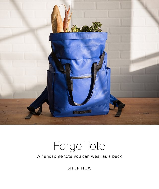 Forge Tote | A handsome tote you can wear as a pack | Shop Now