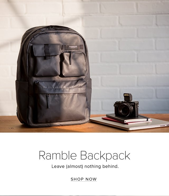 Ramble Backpack | Leave (almost) nothing behind. | Shop Now