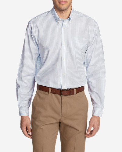 Mens Wrinkle-Free Relaxed Fit Oxford Cloth Shirt - Pattern