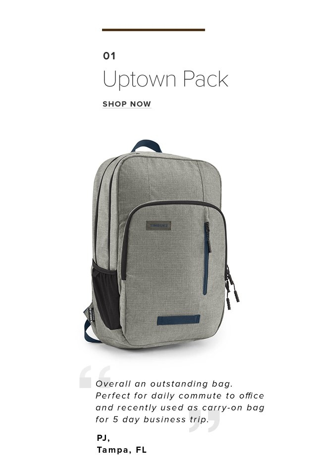 01 UPTOWN PACK | SHOP NOW | Overall an outstanding bag. Perfect for daily commute to office and recently used as carry-on bag for 5 day business trip.