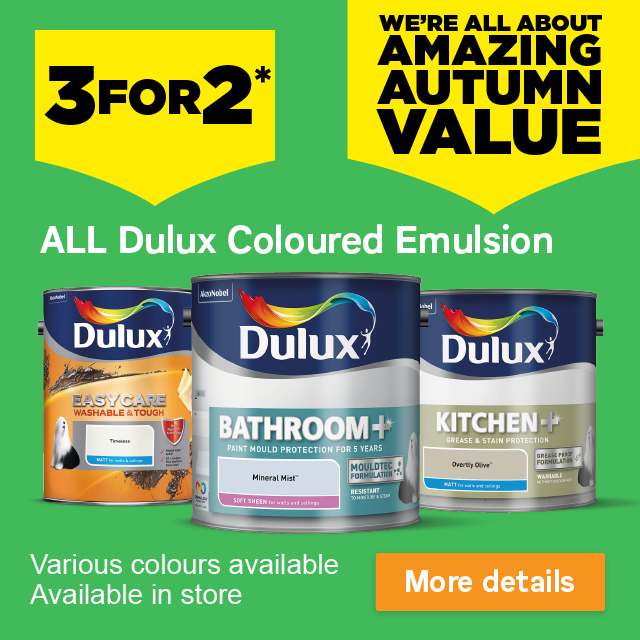 Pleasant Homebase 3 For 2 On All Dulux Coloured Emulsion Get Download Free Architecture Designs Scobabritishbridgeorg