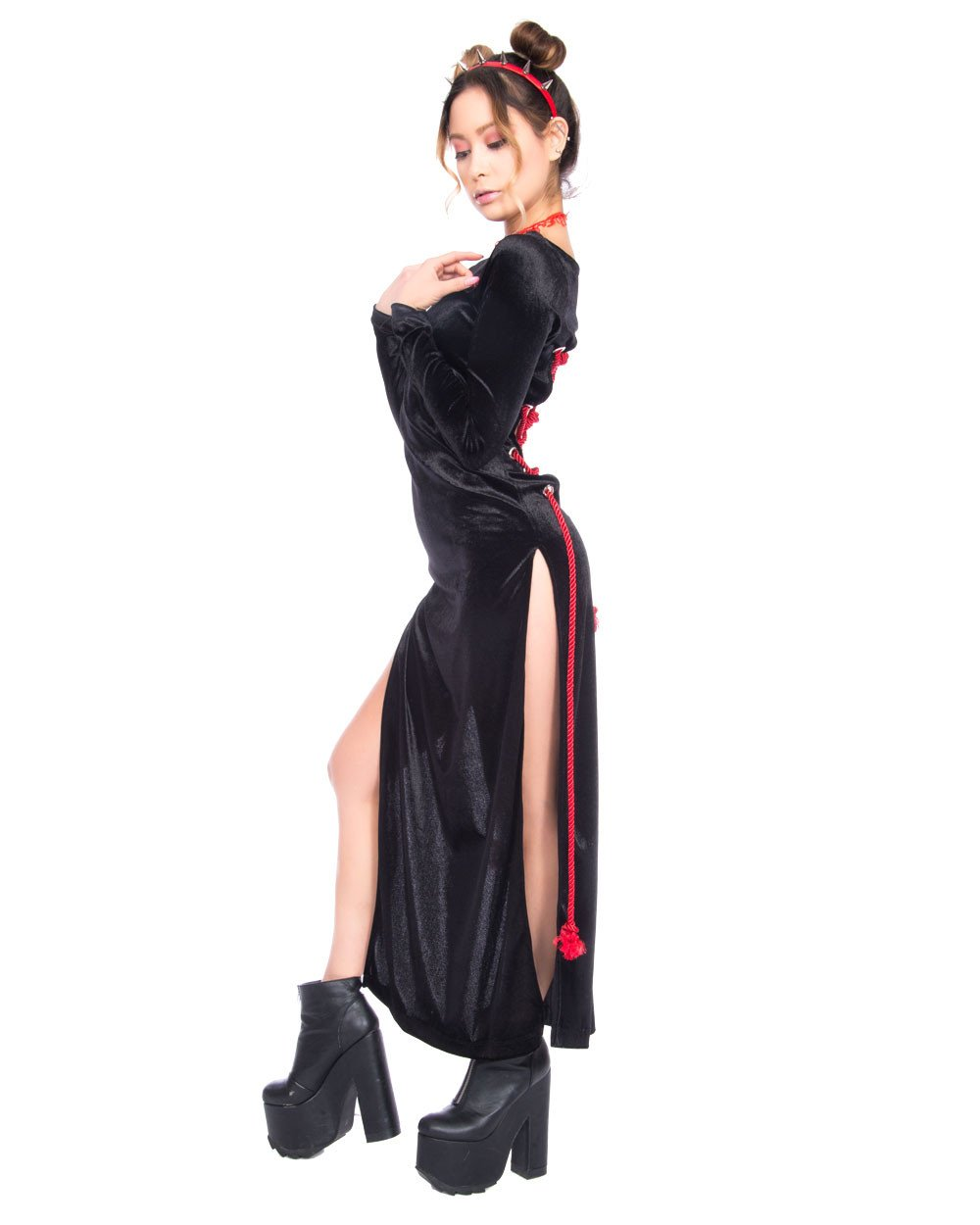 shibari velvet 2 way dress