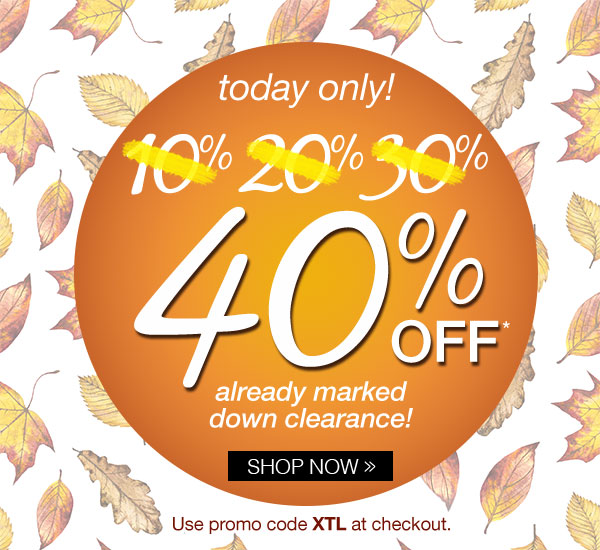 40% off already marked down clearance!