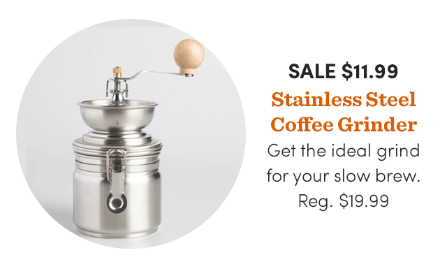 Stainless Steel Coffee Grinder ›