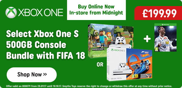 Select Xbox One S 500GB Console Bundle with FIFA 18 Standard Edition