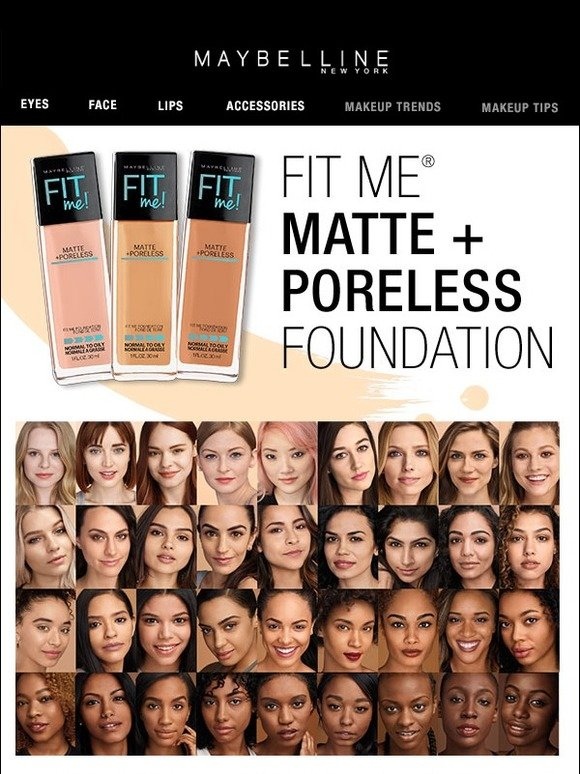 Maybelline Find Your Fit Fit Me Matte Poreless