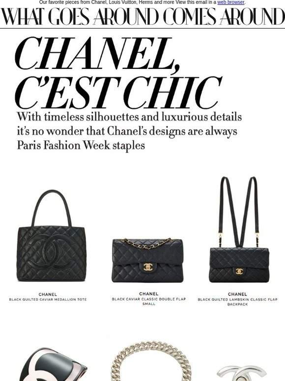 424069c8e7f2 What Goes Around Comes Around: Chanel, C'est Chic! Paris Fashion Week Picks  | Milled