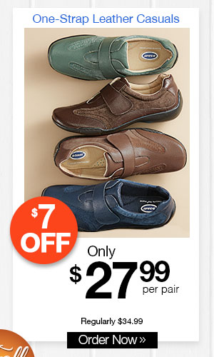 Dr. Scholl's One-Strap Leather Casuals