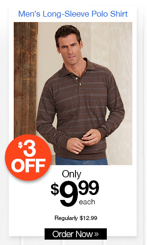 Classic Comfort Long-Sleeve Polo Shirt
