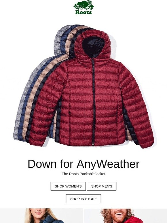 150850928f Roots Canada: Down for any weather | Milled