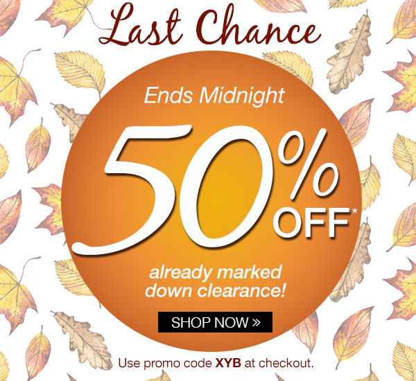 50% off already marked down clearance!