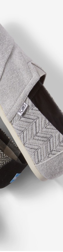 Drizzle Grey Chevron Quilted Men's Classics