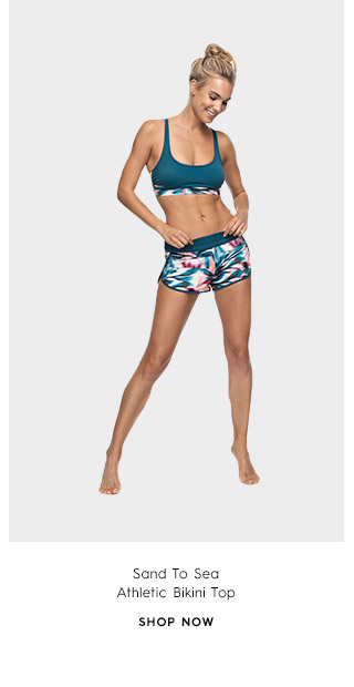 Sand To Sea Athletic Bikini Top