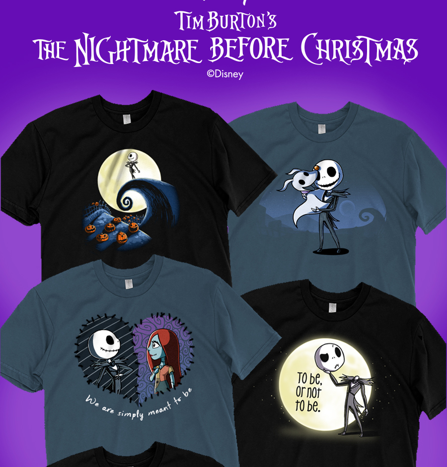 TeeTurtle: 6 NEW The Nightmare Before Christmas shirts ...