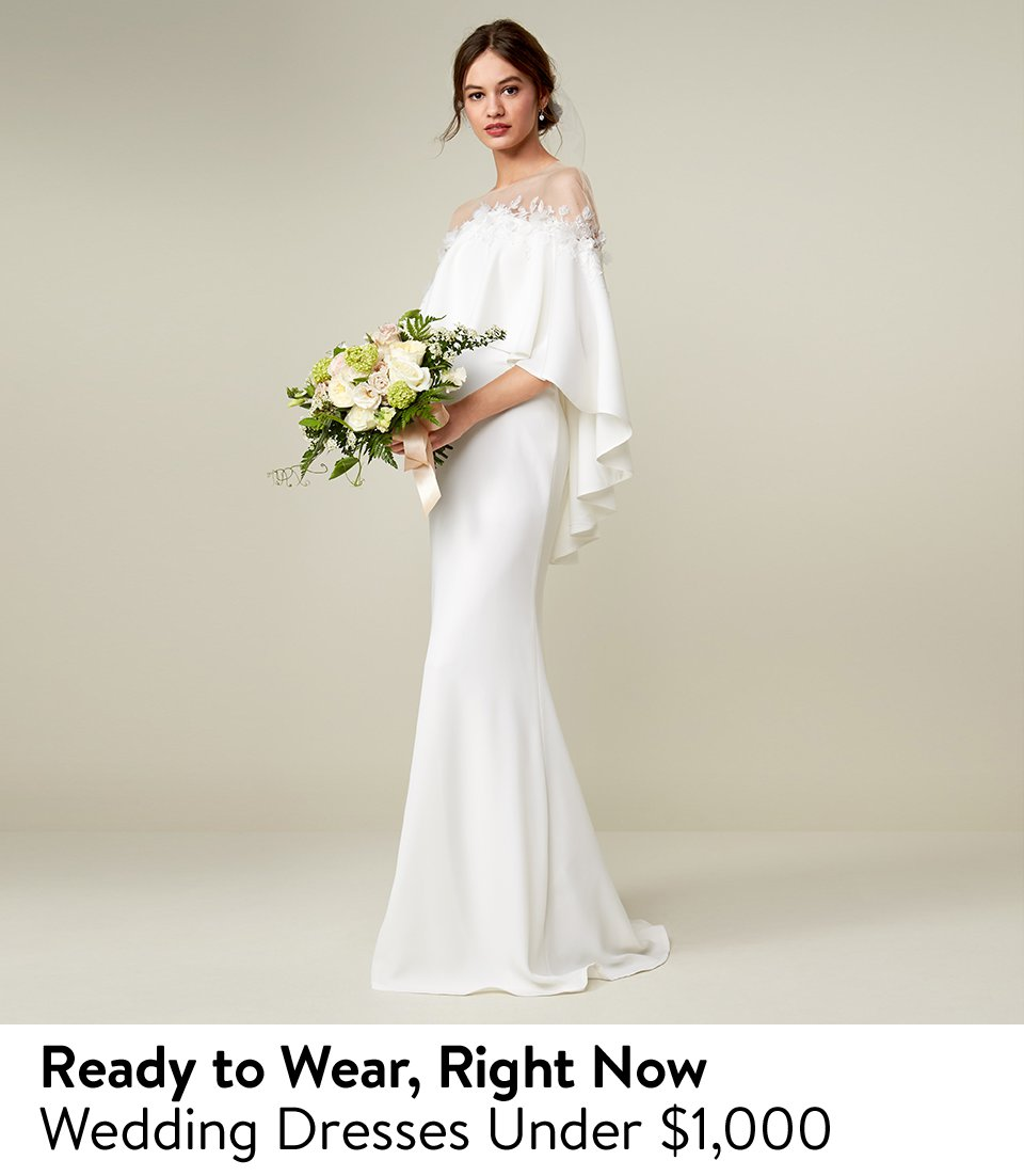 Nordstrom: Wedding gowns under $1,000 and more   Milled