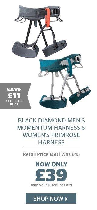 Black Diamond Men's Momentum Harness & Women's Primrose  Harness