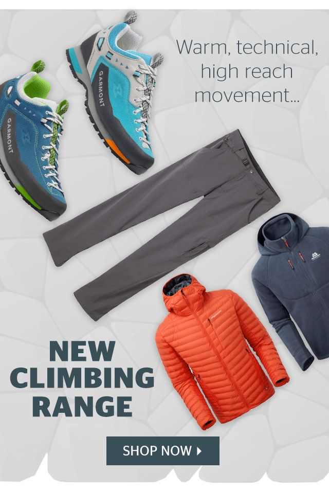 Warm, technical, high reach movement… New climbing range