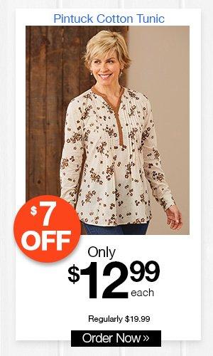 Pintuck Cotton Tunic