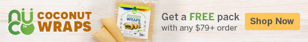Get A FREE Pack Of 'NUCO Coconut Wraps' With Any $79+ Purchase! (US Orders Only)