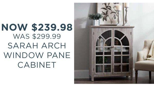 Sarah Arch Window Pane Cabinet