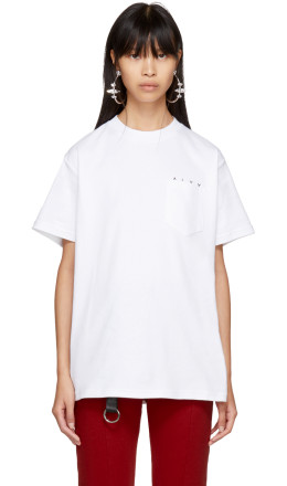 Alyx - White 'No Life' Pocket T-Shirt