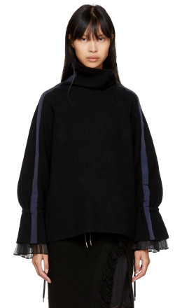 Sacai - Black Sport Knit Pullover