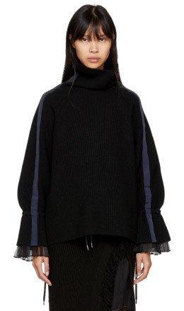 Sacai - Black Sport Knit Pullover