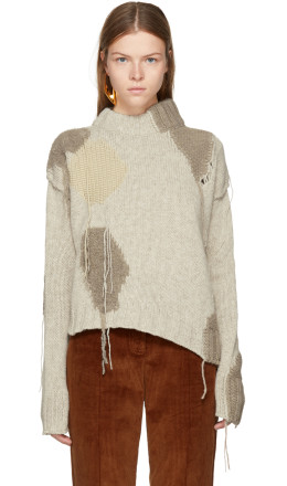 Acne Studios - Beige Ovira Patch Sweater