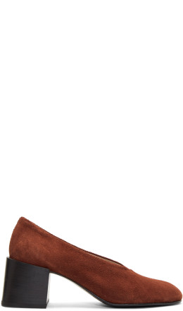 Acne Studios - Brown Suede Sully Deconstructed Heels