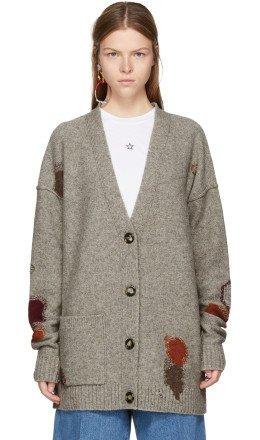 Acne Studios - Beige Wool Line Cardigan