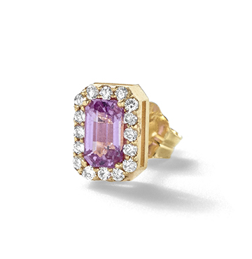 Alison Lou Pink Sapphire and Diamond Stud $750.00