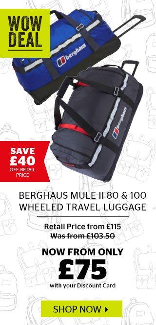 Berghaus Mule II 80 & 100 Wheeled Travel Luggage