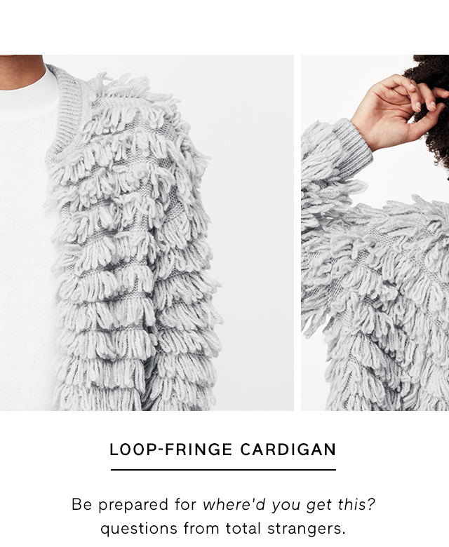 LOOP-FRINGE CARDIGAN
