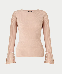 Lipsy pearl sleeve jumper